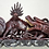 Thumbnail: Antique Carved Rosewood Dragon with wood stand