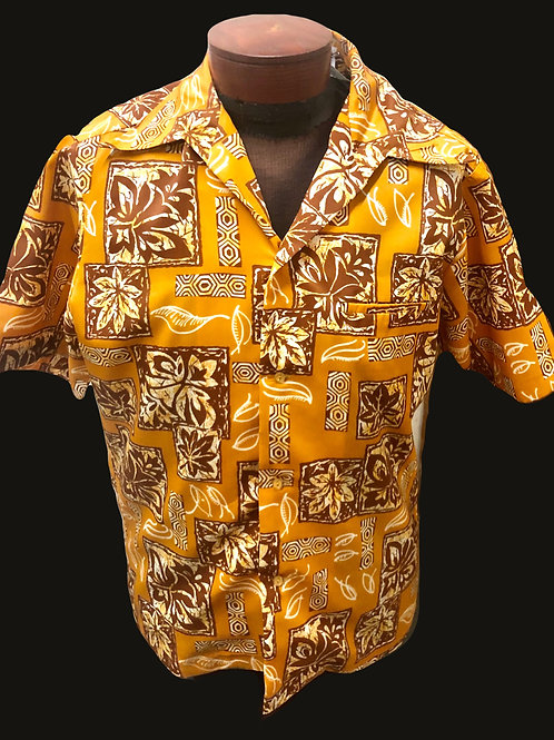 Vintage Penney's Gold Hawaiian Shirt