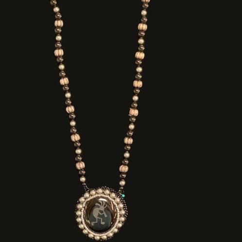 Sterling Carved Kokopelli Necklace