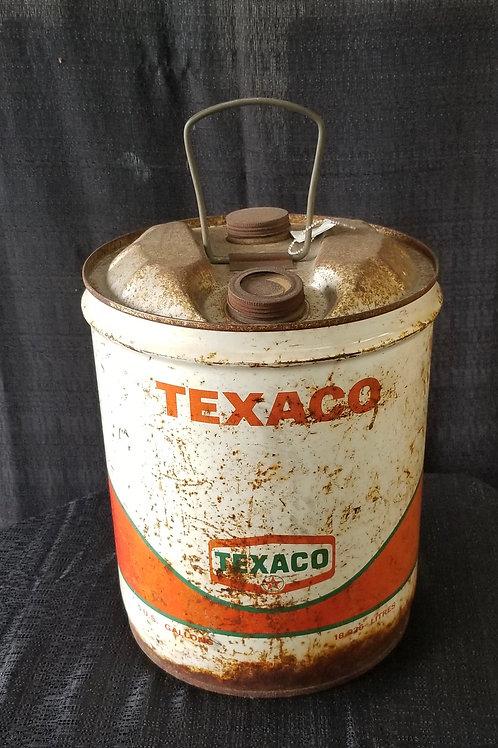 Vintage Texaco 5 Gallon Oil Can