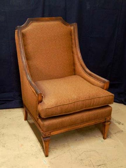 Mid Century Club Chair High Back