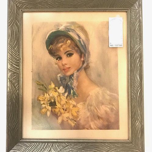 John Stevens NY USA Victorian Lady Print