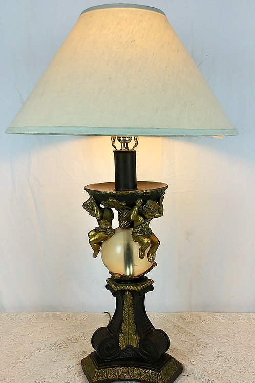 Vintage Cherub Table Lamp
