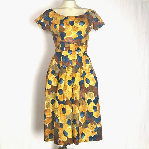 Yellow & Blue Floral Dress