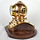 Thumbnail: Brass and copper nautical dive helmet.