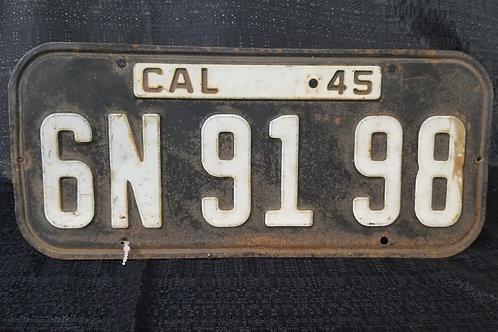 1945 California License Plate