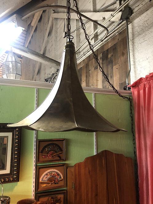 Gramophone Horn Swag Lamp