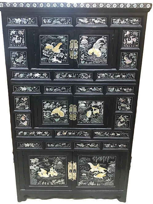 Vintage Mother of Pearl Cabinet