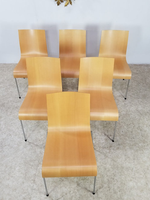 Mid Century molded Herman Miller style set of chairs