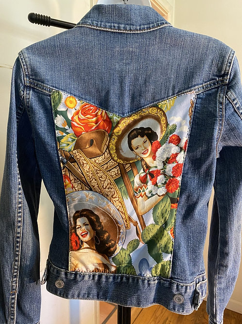 Hispanic Cultural Denim Jacket