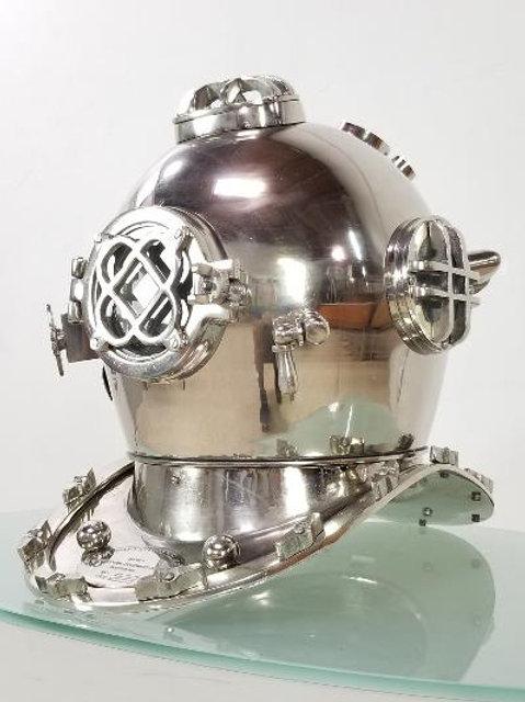 Nautical navy diver helmet