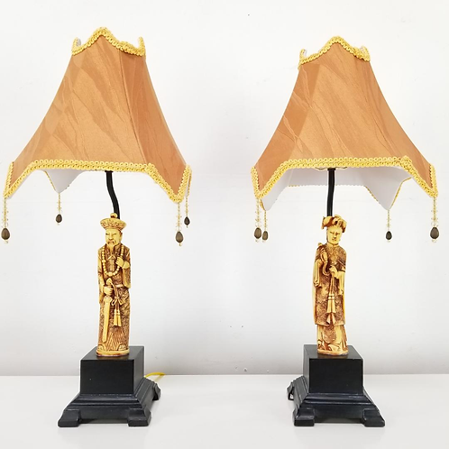Asian table Lamps Pair