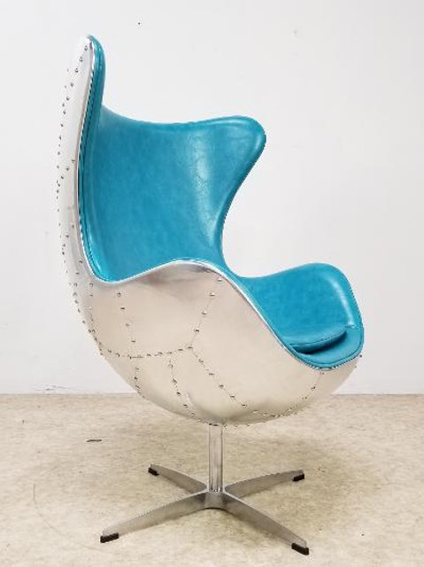 Rare Blue Swivel Chair