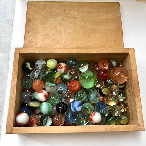 Vintage Box of Marbles