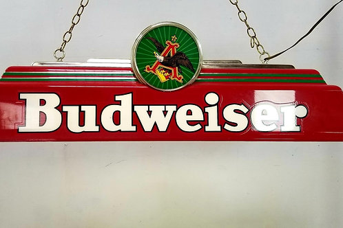 Vintage Classic Budweiser Beer Pool Table Light