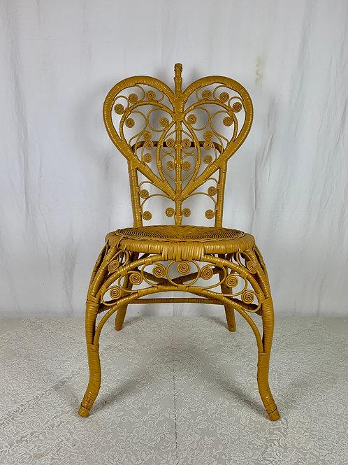 Heart Shaped Wicker Chair