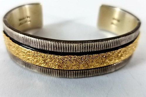 Gold and Silver Bracelet by Artist Marc Antia