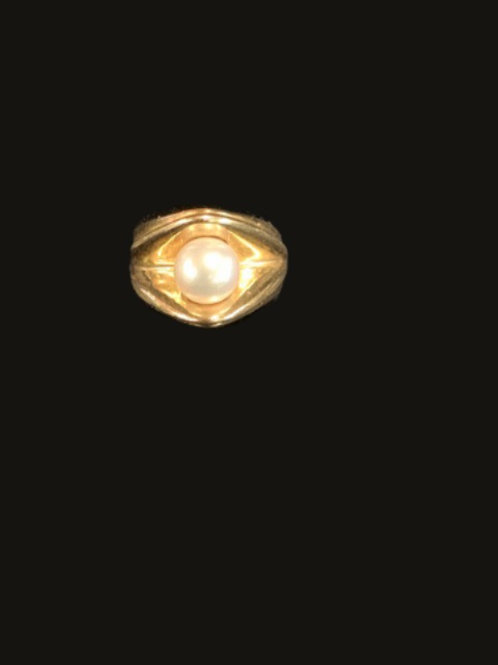 14KT Yellow Gold 1 Pearl Ring