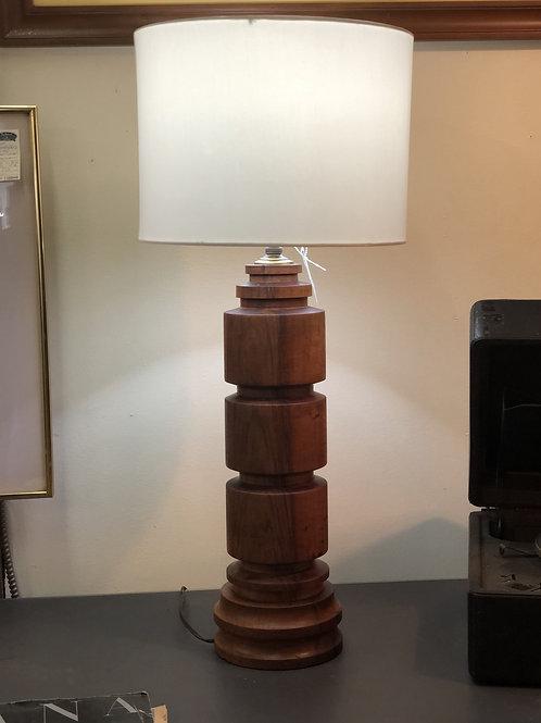 1960's Mid Century Teak Lamp