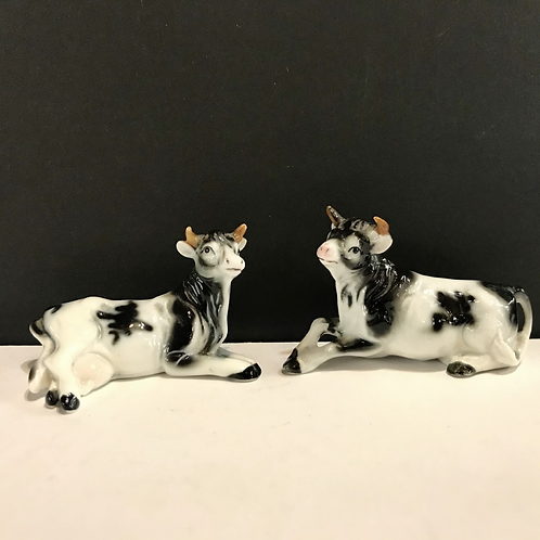 Scottish Ayrshire Cow Salt and Pepper Shakers
