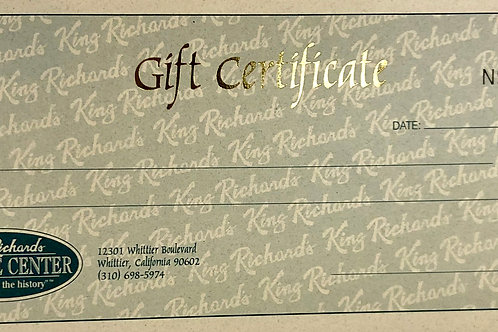 $50 Gift Certificate to King Richard's Antique Center