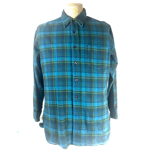 Men's Blue Plaid Pendelton