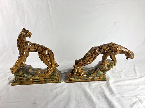 1939 USA Royal Haegar Pair of Spotted Leopards