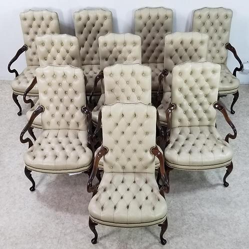 Chesterfield Executive tufted leather armchair