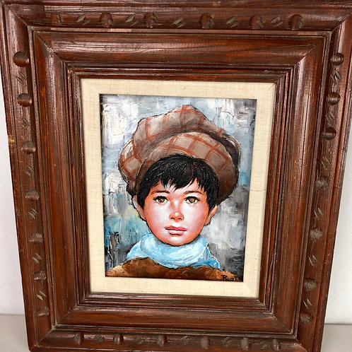 Big Eyes Painting - Boy in a Hat