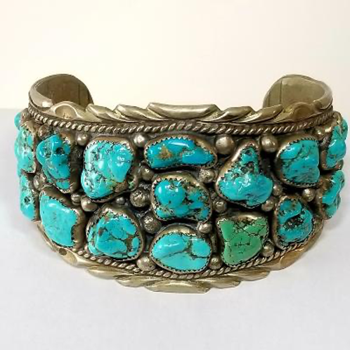 9.25 Silver and Turquoise Bracelet
