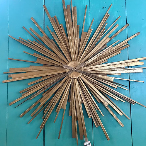 Sunburst mid century wall clock