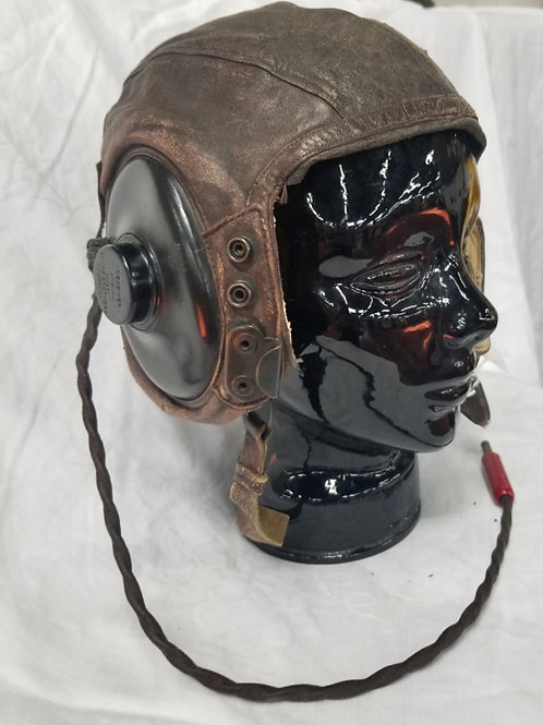 WWII USAF Leather Flight Cap