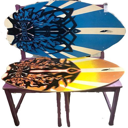 Vintage Surf Board Bench