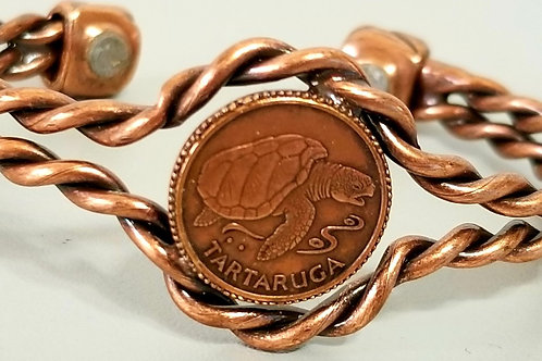 Vintage copper tartaruga/turtle Magnetic Healing bracelet