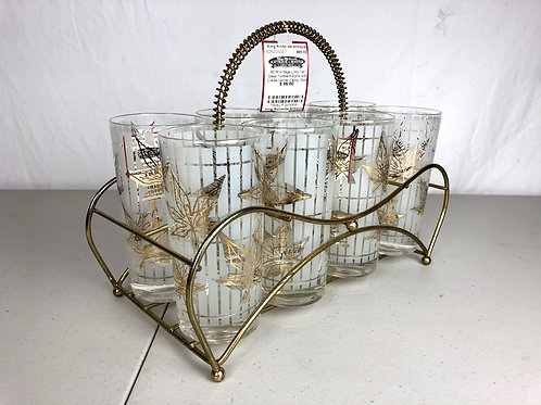 MCM Vintage Libby Tall Glass Tumblers