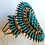 Thumbnail: Vintage Silver and Turquoise Zuni Bracelet