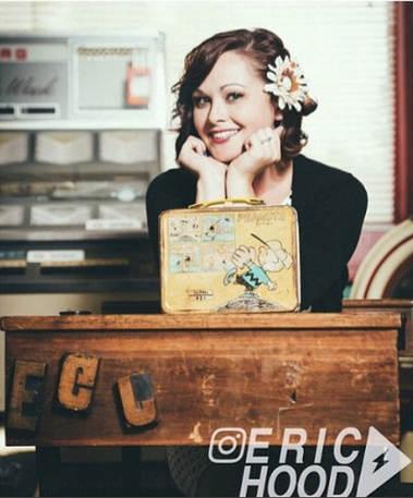 KR Vintage Postcard Girl