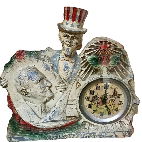 "1930's FRD clock ""our Uncle Sam"""
