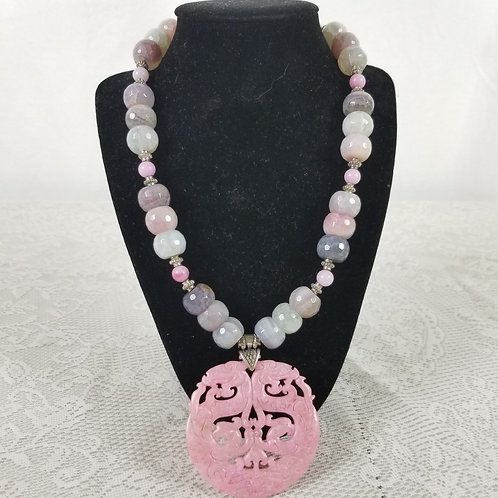 Stone necklace.