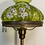 Thumbnail: Antique Floor Lamp W/Glass Shade, Brass,& Marble Base