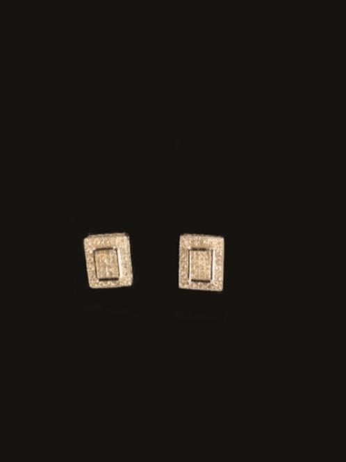 14KT White Gold 84 Diamond Earrings
