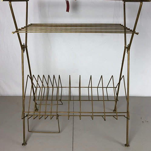MCM Brass Record Stand/Table