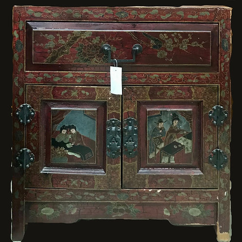 Vintage Lacquered Chinese Cabinet
