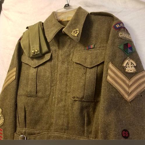 WWII Canadian NCO Medic tunic