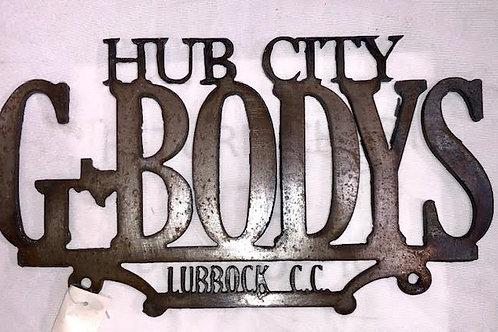 Hub City Car Club Plaque