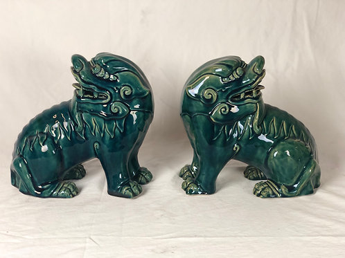 Pair of Vintage Foo Dogs