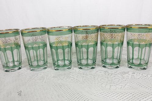 Six Mid Century Glasses