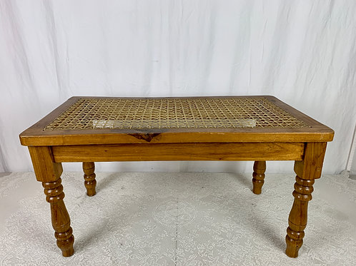 Rustic Cane Webbing Coffee Table