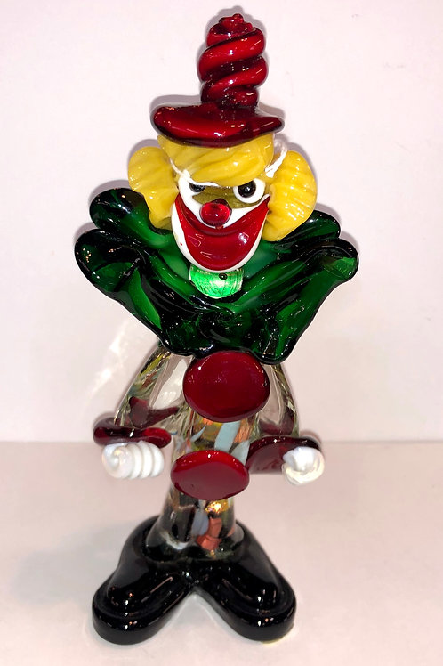 "Murano Glass 9"" Clown"
