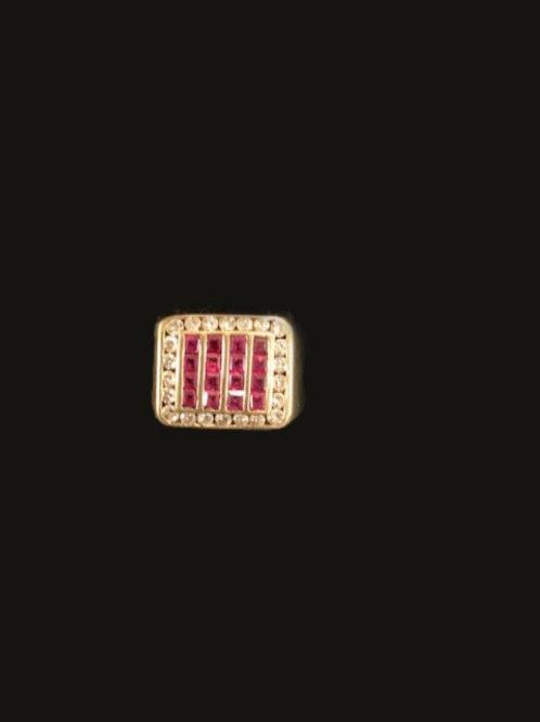 14kt 22 Diamond 16 Rubies Ring